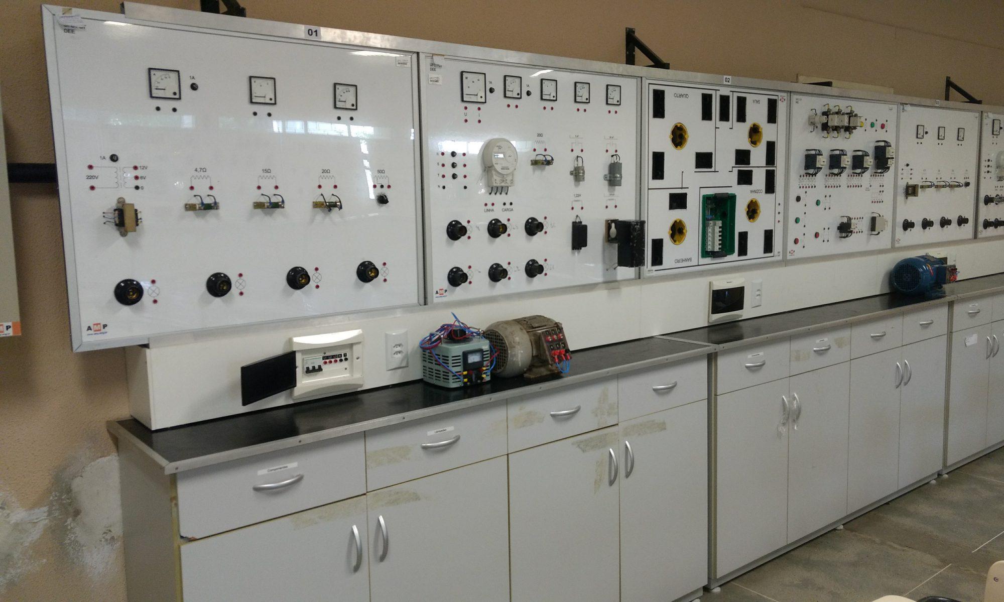 Página do Laboratório de Eletrotécnica